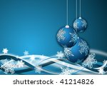 abstract blue christmas... | Shutterstock . vector #41214826