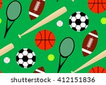 seamless pattern with sport...   Shutterstock .eps vector #412151836