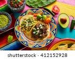 mexican platillo tacos of... | Shutterstock . vector #412152928