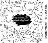 ornaments design  hand drawn... | Shutterstock .eps vector #412155586