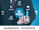 best practice technology... | Shutterstock . vector #412161916