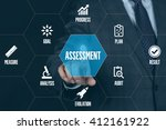 assessment technology... | Shutterstock . vector #412161922