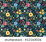 amazing floral pattern with... | Shutterstock .eps vector #412163026