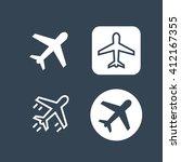 Airplane Icon. Vector Art...