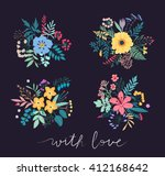 collection stylized spring...