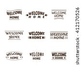 welcome home design collection. ... | Shutterstock .eps vector #412170526