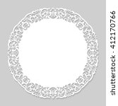 round paper vintage lace frame. ... | Shutterstock . vector #412170766