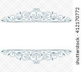decorative vintage frame. swirl ... | Shutterstock . vector #412170772