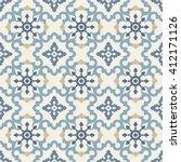seamless retro pattern. tiled... | Shutterstock . vector #412171126