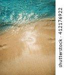 Azure Blue Sea. White Clean...