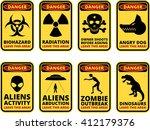 vector warning humorous signs...   Shutterstock .eps vector #412179376