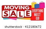 moving sale banner or label for ... | Shutterstock .eps vector #412180672