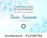 certificate or diploma template ... | Shutterstock .eps vector #412180786