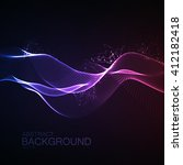 3d illuminated abstract digital ... | Shutterstock .eps vector #412182418