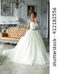 wedding dress in paris. bride... | Shutterstock . vector #412182556