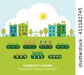 community fruit and vegetable...   Shutterstock .eps vector #412182745