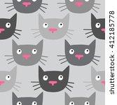cute cat pattern  made in... | Shutterstock .eps vector #412185778
