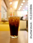 cold cola in glass drink for...   Shutterstock . vector #412203886