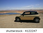 small car overlooking lake... | Shutterstock . vector #4122247