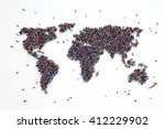 3d rendering of people world | Shutterstock . vector #412229902