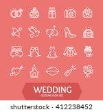 wedding outline icon set on... | Shutterstock .eps vector #412238452