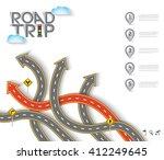 road   street design with arrow ... | Shutterstock .eps vector #412249645