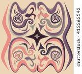 element of ornament.... | Shutterstock .eps vector #412262542
