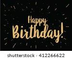 happy birthday inscription.... | Shutterstock .eps vector #412266622