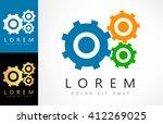 gears logo vector | Shutterstock .eps vector #412269025