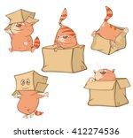 Set Of Vector Cartoon...