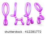 set of animal figures out of... | Shutterstock . vector #412281772