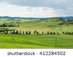 spring in tuscany on siena with ... | Shutterstock . vector #412284502