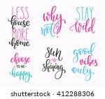 lettering vector postcard... | Shutterstock .eps vector #412288306