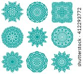set of mandalas. vector ethnic... | Shutterstock .eps vector #412293772