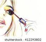 makeup . woman face. makeup... | Shutterstock . vector #412293802