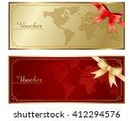voucher vector  | Shutterstock .eps vector #412294576