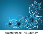 abstract blue vector background ... | Shutterstock .eps vector #41230459