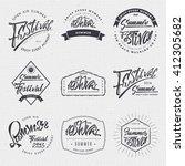 summer festival   poster  stamp ... | Shutterstock .eps vector #412305682