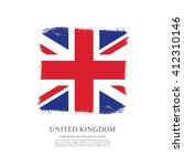 british flag made in brush... | Shutterstock .eps vector #412310146
