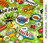 bright comics speech bubbles on ... | Shutterstock . vector #412310866