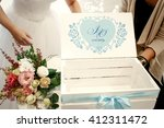 beautiful wedding decoration in ... | Shutterstock . vector #412311472