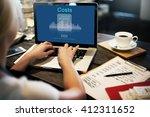 costs budget debt economy... | Shutterstock . vector #412311652
