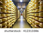 Shelves With Cheese At A Chees...