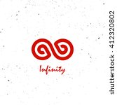 stylized infinity symbol red.   Shutterstock .eps vector #412320802