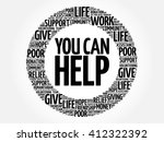 you can help word cloud collage ... | Shutterstock .eps vector #412322392
