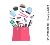 make up concept flat... | Shutterstock . vector #412322395