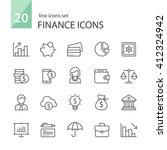 finance icons. | Shutterstock .eps vector #412324942