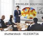 problem solving method process... | Shutterstock . vector #412334716