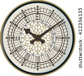 the face of english clock on... | Shutterstock .eps vector #412336135