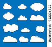cloud set icon. | Shutterstock .eps vector #412336822